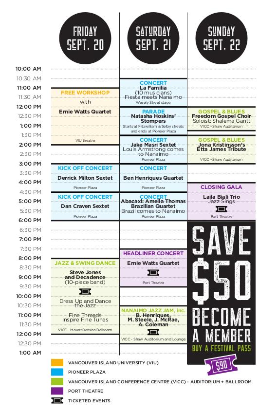 2019 Jazz Fest Schedule